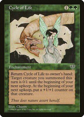 Briljant Cycle Of Life Mirage Nm-m Green Rare Magic The Gathering Mtg Card Abugames