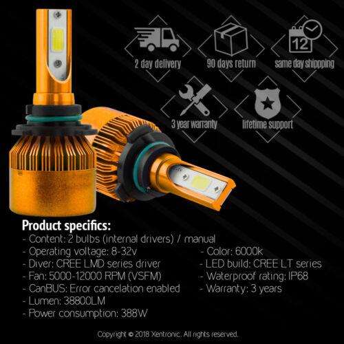 6500K Cree 9006 HB4 HB4U LED White Low Beam Bulb 120W 12000LM Headlight Kit