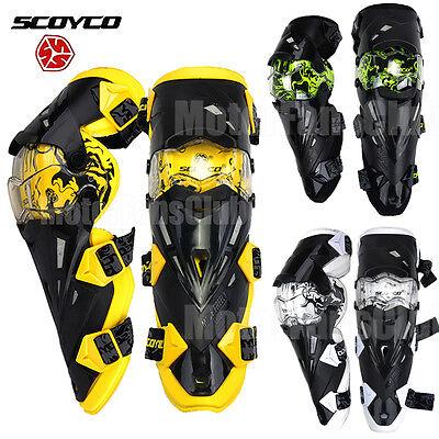 SCOYCO Motorcycle Dirt Bike ATV Adult Knee Pads Protective Guards Armor Gear Pad