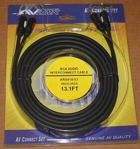 Av Link Pr Audio Rca Cable Ar5415 13 1 Ft Brand New Ebay