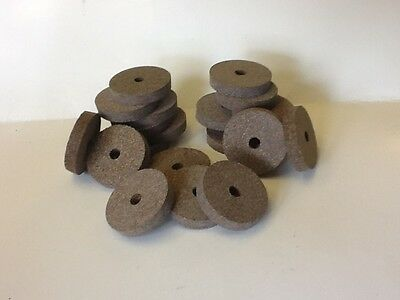 "Spotted Solid Cork Rings 12 Red 1 1//4/"" x 1//2/"""