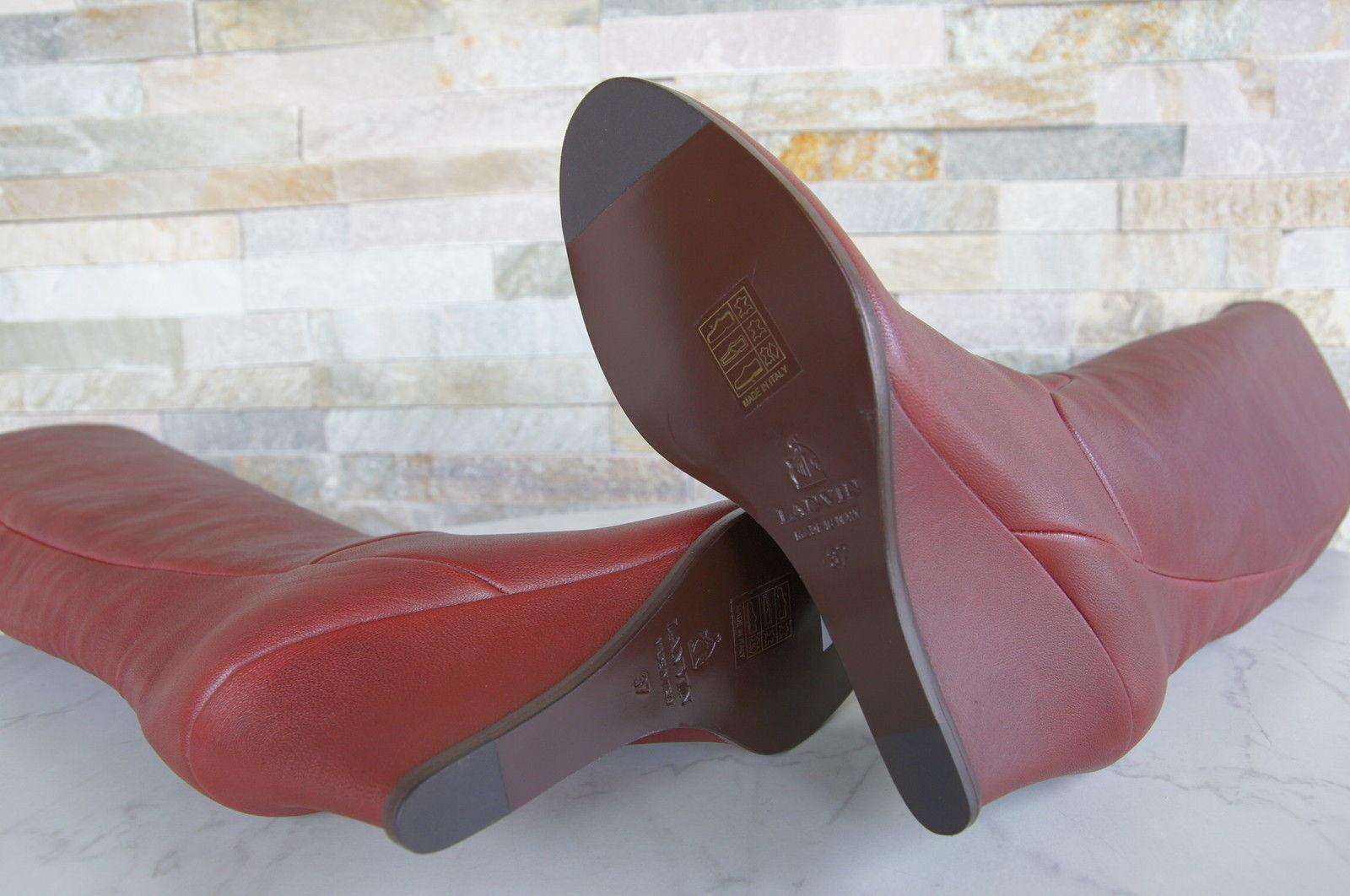 Luxe LANVIN T Bottes 36 Talons Bottes Boots Bottes T Chaussures Rouge Bordeaux Neuf Prix Recommandé e6b7c5