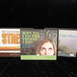 Details about Joyce Meyer Lot 3 Christian Values Teaching CD Sets Cure For  Worry Stress Why