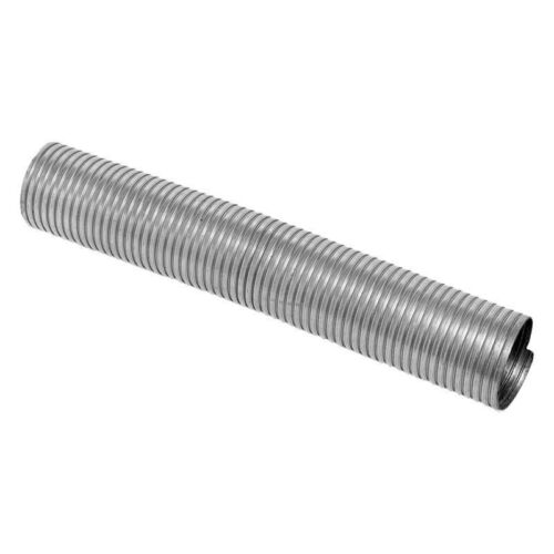 Exhaust Flex and Pipe Assembly Heavy Duty Galvanized Steel Pre-Cut Exhaust Flex