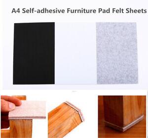 A4 Size Premium Felt Furniture Pads for Chair Leg Hardwood ...