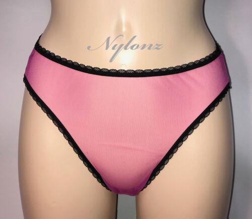 LTD EDT * Stile Vintage completamente Velato Trasparente Nylon Panties-Rosa Shocking