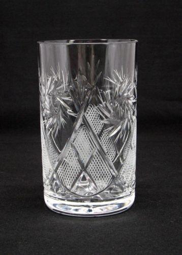 GL5107 3 Russian Crystal HOT TEA Glasses for Metal Glass Holder Podstakannik