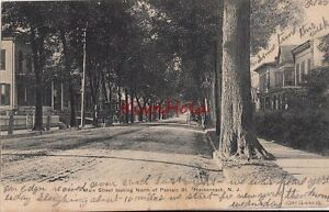 Postcard-Main-Street-Looking-North-Passaic-St-Hackensack-NJ