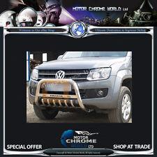 VW VOLKSWAGEN AMAROK BULL BAR CHROME AXLE NUDGE A-BAR 60mm 2010+UP, LOGO, NEW