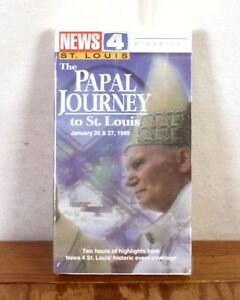RARE-St-Louis-news-Channel-4-il-viaggio-papale-1999-VHS-NASTRO-visita-papa-NUOVO
