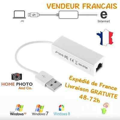 Carte réseau USB - RJ45 Lan adaptateur Internet Fast Ethernet Network