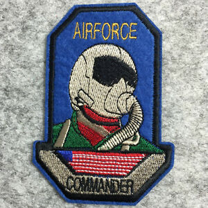 Airforce-commander-sew-on-iron-on-patch-embroidered-BAG-Badge-transfer-applique