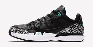 25009f0529d Nike Zoom Vapor RF x AJ3 Federer Jordan Atmos Black White Jade Sz ...
