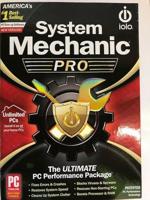Iolo System Mechanic The Essential PC Performance Package Computer PC SEALED