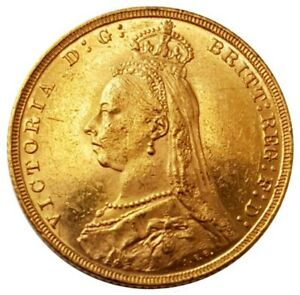 1893-M Queen Victoria Jubilee Head Gold Sovereign (Melbourne) AUNC
