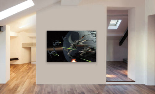 Various Sizes STAR WARS X WING DEATH STAR TIE FIGHTER Canvas Wall Art Print