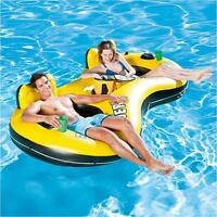 Bestway Double Rapid Rider X2 Swim Ring Float Lounger Inflatable Pool Beach Lilo