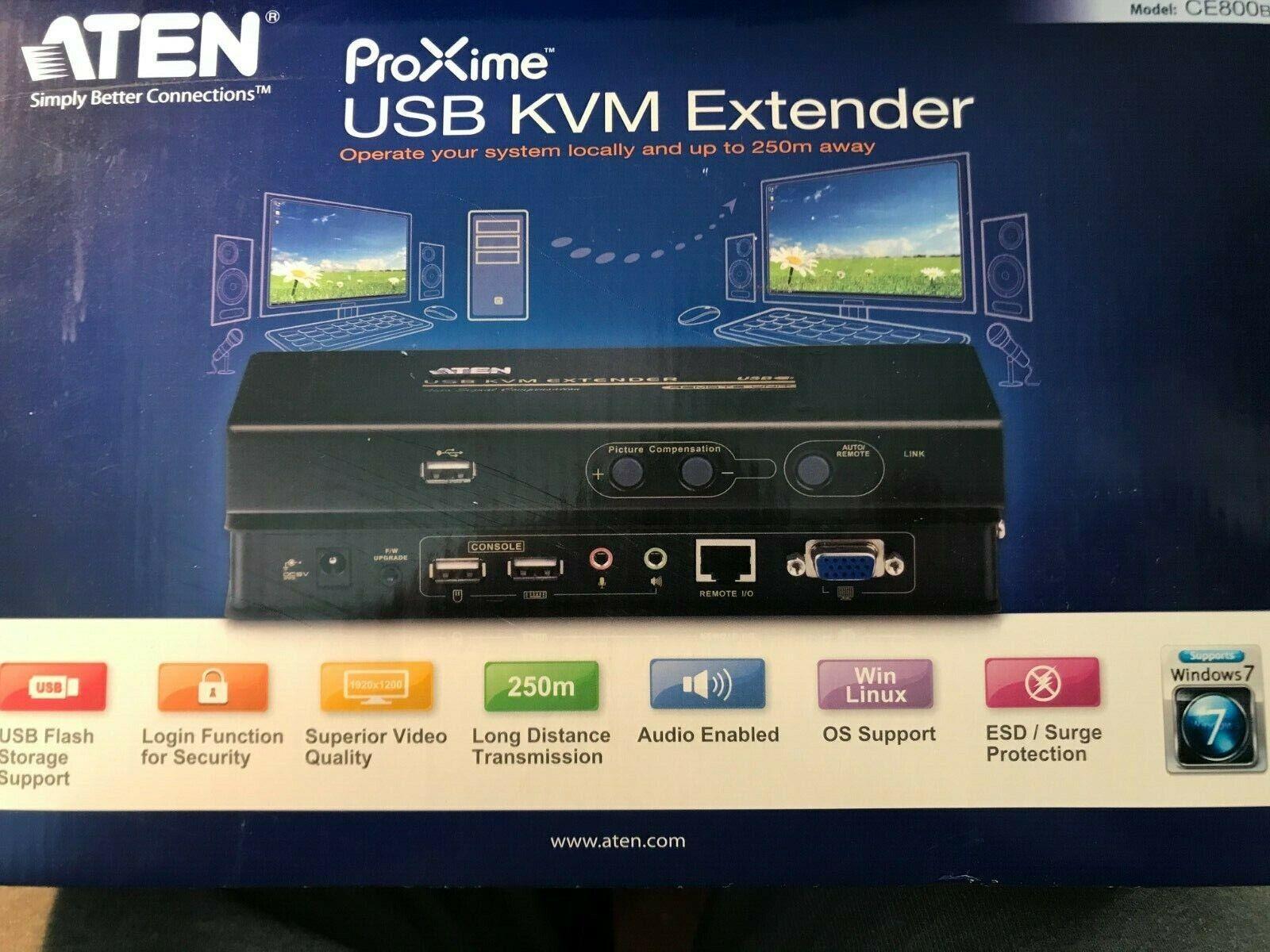 Aten AT-CE800B - CE800B - USB VGA KVM extender + audio + VMS