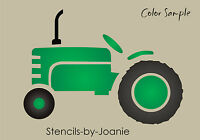 Garden Stencil Country Vintage Older 4 Tractor Shape Farm Trailer Wall Art Sign