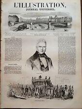 L'ILLUSTRATION 1844 N 66 OBSEQUES DU BANQUIER JACQUES LAFFITTE, A PARIS