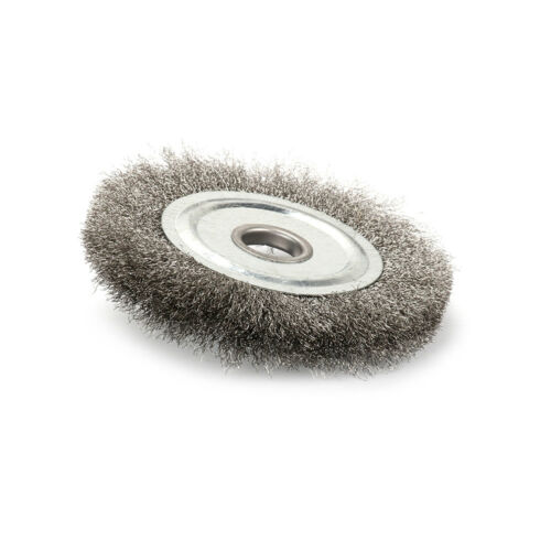 """4 Inch Flat Crimped Stainless Steel Wire Wheel Brush for Rust Removal 5//8/"""" Bore"""
