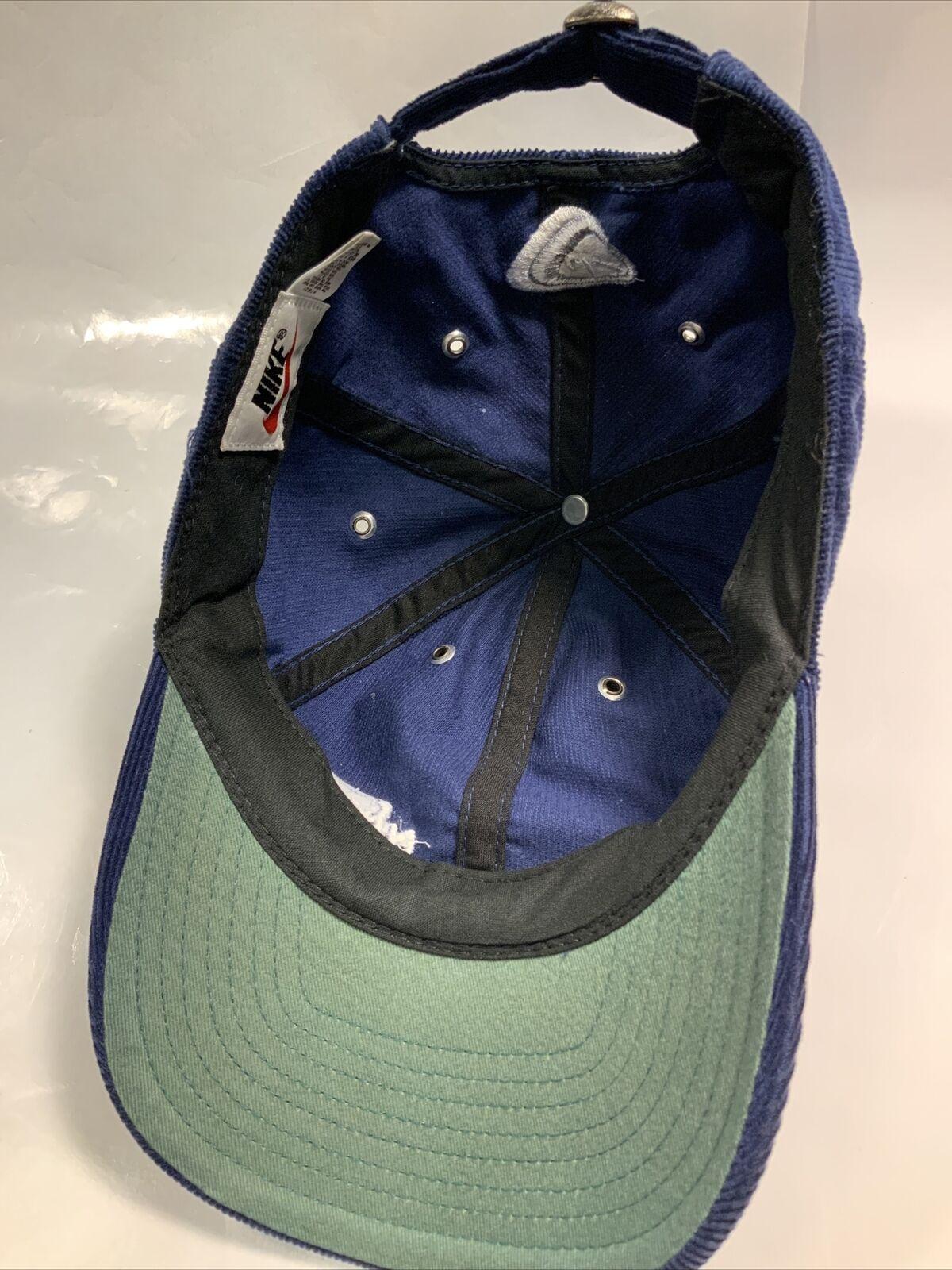 Vintage Nike Hat Corduroy 80s - 90'S Blue AUTHENT… - image 8