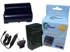 Battery + Charger + Car Plug + EU Adapter for Nikon D610, MH 25