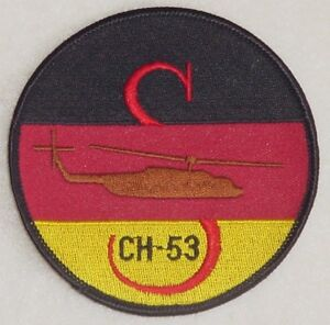 Bundeswehr-Patch-Aufnaeher-Transporthubschrauber-CH-53-Deutschland-A2299