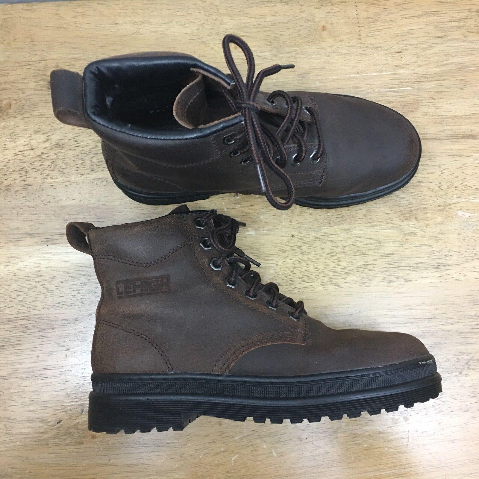 LeHigh Stiefel Damens's 8W Ansi Z41 Oil Resistant Braun Leder Safety Stiefel #SB08