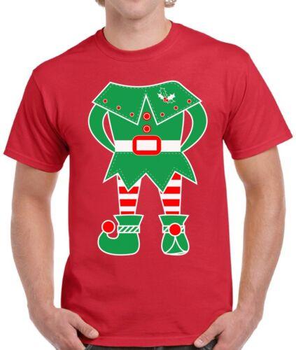 Elf Costume Christmas Shirt for Men Elf Suit Santa/'s Helper Christmas Shirt