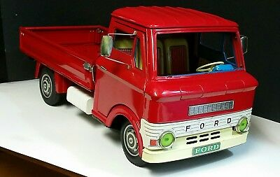 VINTAGE COLLECTIBLE FORD TINPLATE TOY TRUCK TN NOMURA JAPAN 19