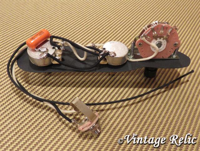 upgrade wiring kit pre wired for fender telecaster orange drop 047 rh ebay com