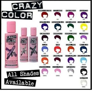 image is loading crazy colour semi permanent coloration pour cheveux 100ml - Semi Permanent Coloration