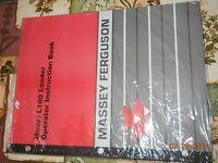 Operator's Instruction Book For Massey Ferguson L100 Loader