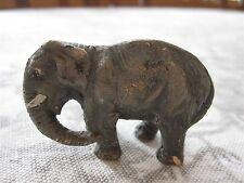 "ANTIQUE GERMAN COMPOSITION LINEOL ELASTOLIN TOY ELEPHANT FIGURE 1 1/2"""