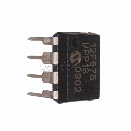 10PCS  MCU IC MICROCHIP DIP-8 PIC12F675-I//P 12F675-I//P 12F675