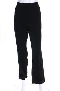 Dolce-amp-Gabbana-Womens-High-Waist-Straight-Leg-Trousers-Pants-Black-Size-Small