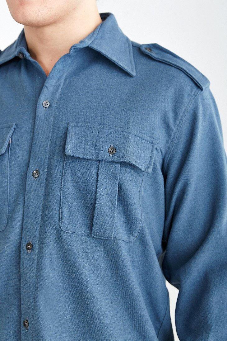 hemd - jacke, Italian wolleblend Long-Sleeve  männer Größe M, damänner L. Bargain