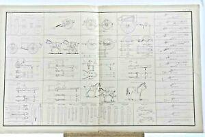 Antique Atlas 1861 Civil War Plate  CXXIII 35 Image Artillery Cavalry Guns Sword