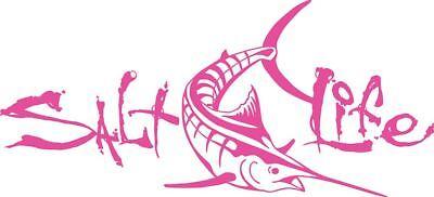 Salt Life Signature Tuna Decal Pink Medium