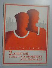 2.  Arbeiter ~Turn und Sportfest ,Nürnberg 1929 Festschrift / Chronik