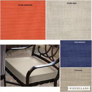 echo custom sunbrella indoor outdoor seat cushion box style ebay