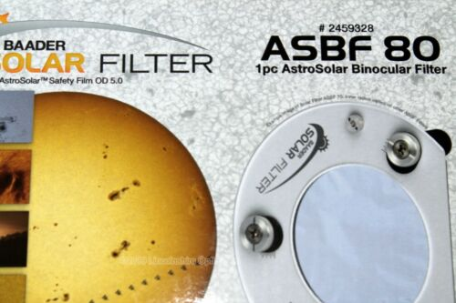 UK seller Baader ASBF 80 solar filter for visual and imaging Boxed UK stock