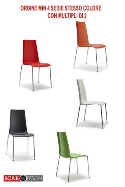 Sedia moderna Mannequin Scab Design in polipropilene acciaio cromato impilabile Verde Pistacchio