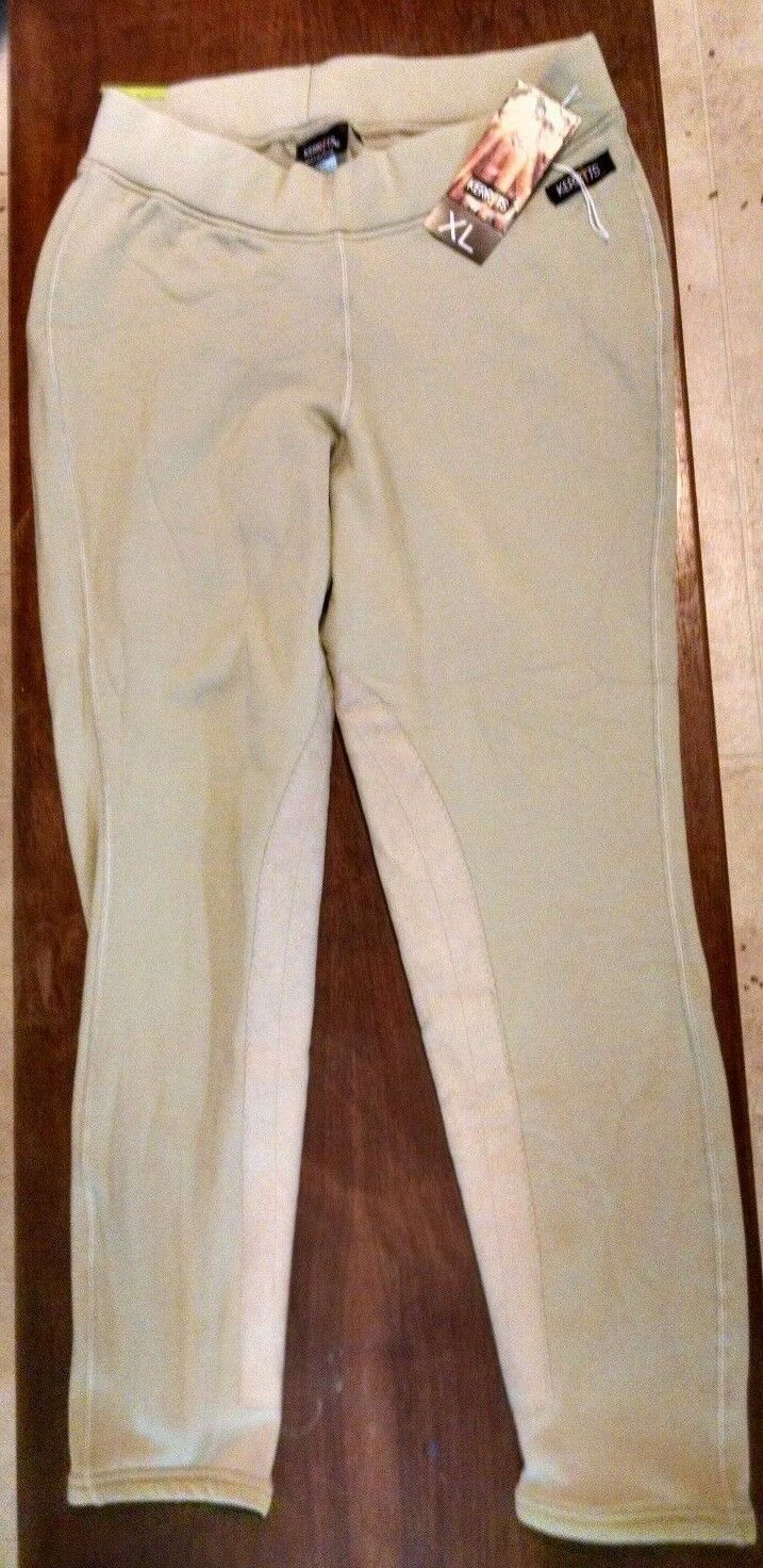 Brand NewKerrits Powerstretch Tan Breeches F-low Rise XL   free shipping & exchanges.