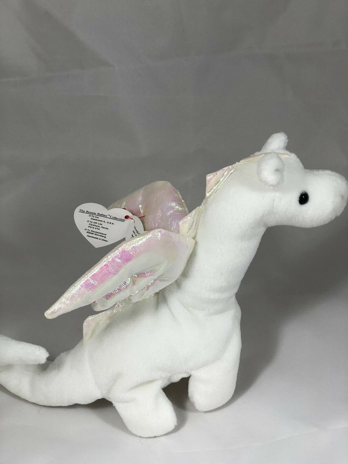 3c206c6deeb TY BEANIE EDITION BABY 1ST EDITION BEANIE 1995 VERY RARE MAGIC THE DRAGON  With ERRORS.