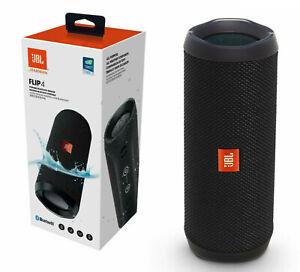 Lautsprecher Tragbar Bluetooth Drahtlos JBL Flip 4 Schwarz Wasserdicht Original