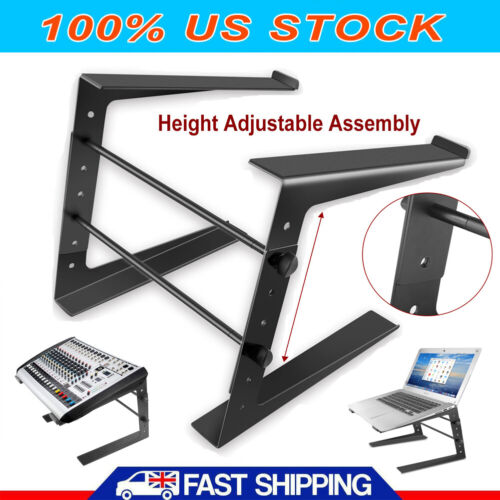 DJ Laptop Stand Adjustable Height & Anti-Slip for Laptops,Controllers, CD Player