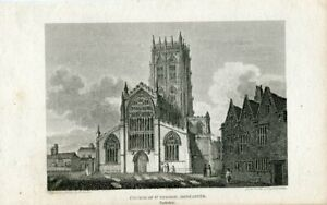 Church-Of-St-George-Doncaster-Yorkshire-Engraving-amp-Drawn-IN-1803-By-B-Howl