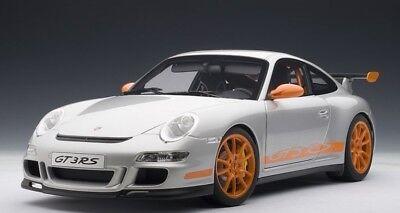 AUTOart 12119 1:12 Porsche 911 (997) GT3 RS (SILVER/ORANGE STRIPES) 2006  674110121193 | eBay